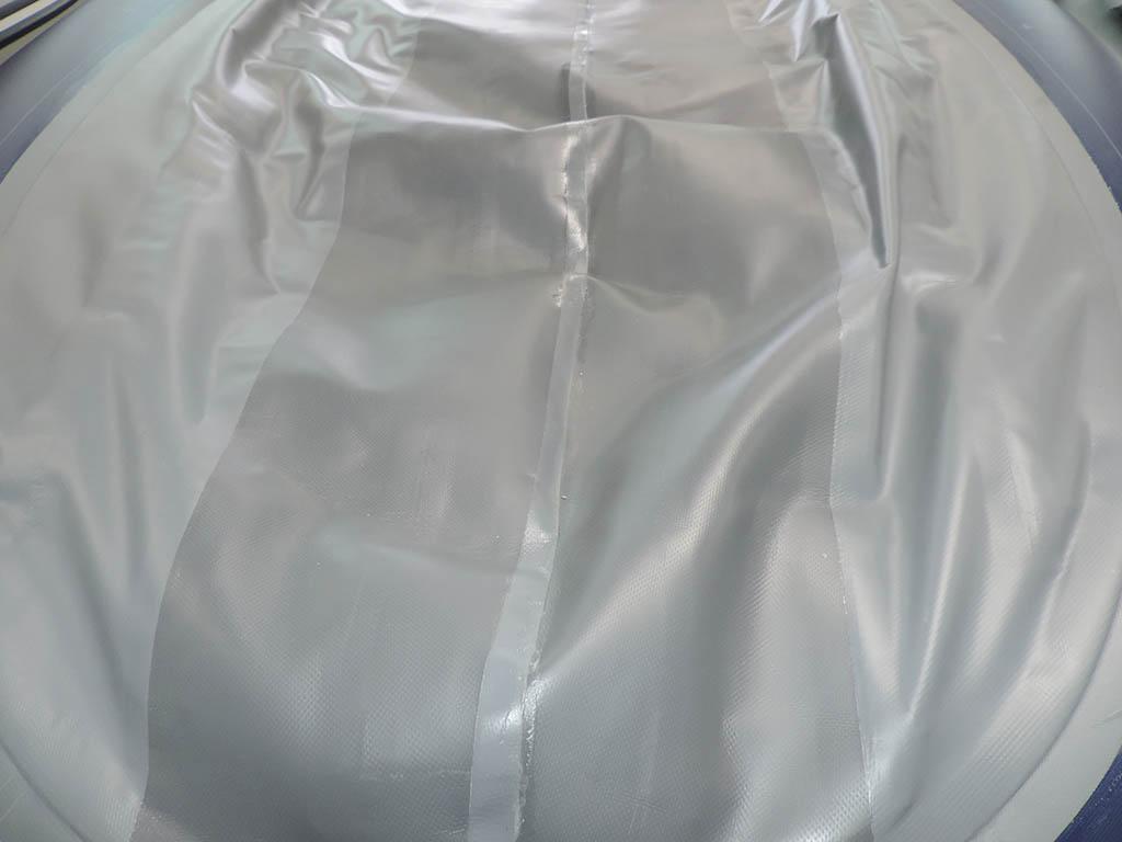 Усиление бревен нижней части дна по килевой части